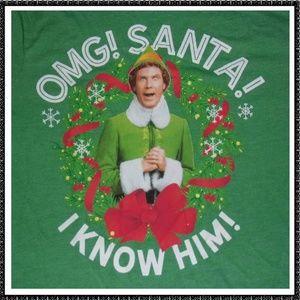 Ugly CHRISTMAS T Shirt M Elf OMG SANTA New NWT